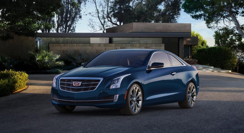 Blue 2015 Cadillac ATS Coupe