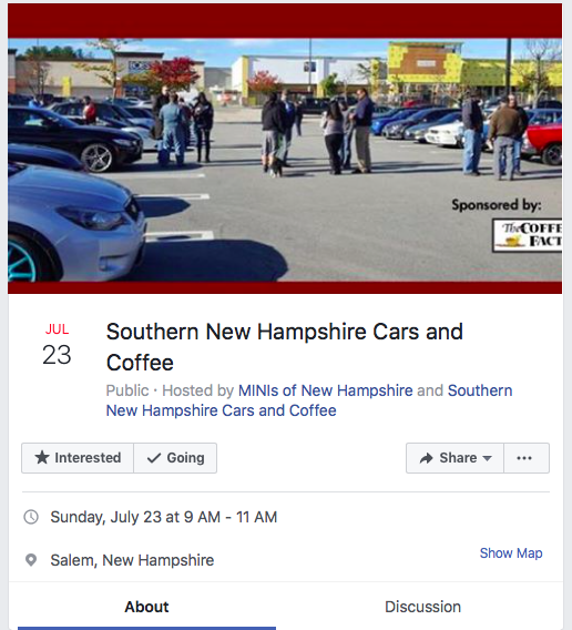 Southern New Hampshire Cars and Coffee