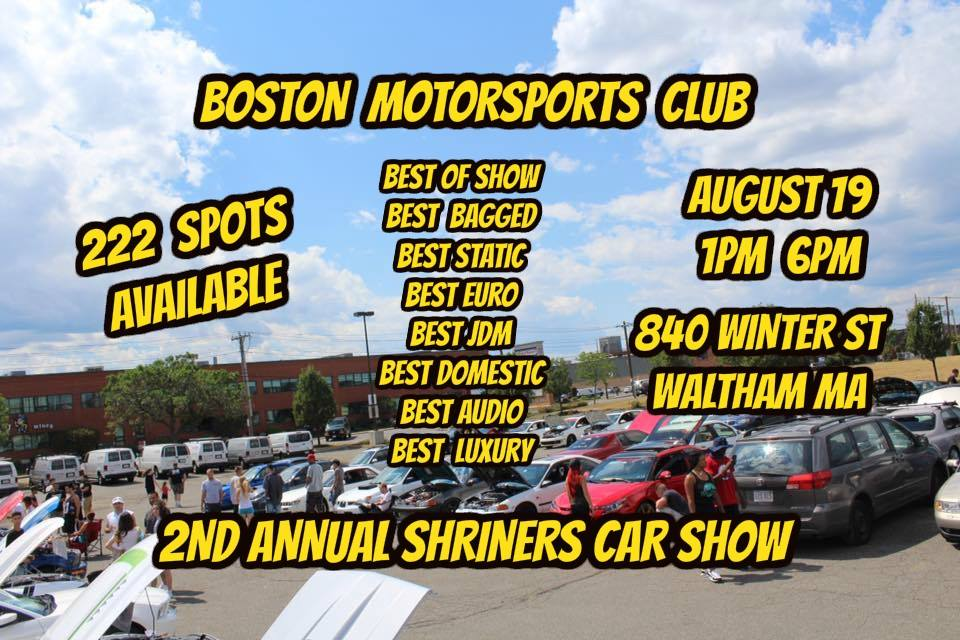 2nd Annual Shriners Donation Car Show