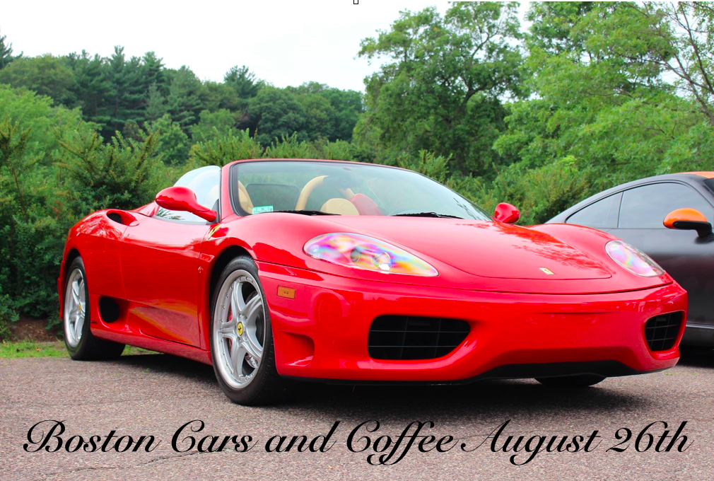 Boston Cars & Coffee August 26th